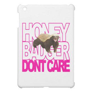 Honey Badger Don't Care Pink iPad Mini Case