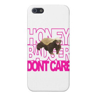 Honey Badger Don't Care Pink Cases For iPhone 5