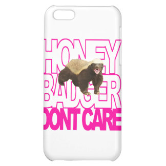 Honey Badger Don't Care Pink iPhone 5C Cases