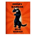 Honey Badger don't care! Postcard