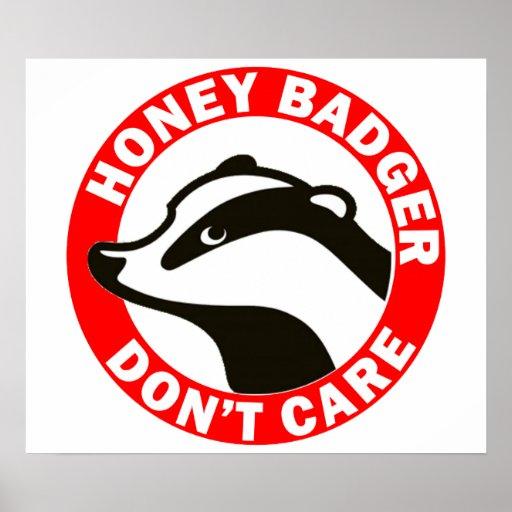 Honey Badger Don't Care Print