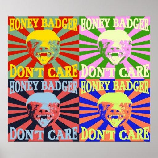 Honey Badger Don't Care Poster