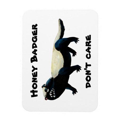 Honey Badger  don't care! Vinyl Magnets