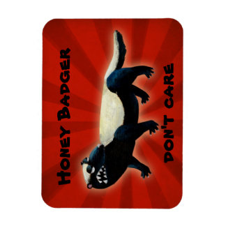 Honey Badger  don't care! Rectangle Magnets