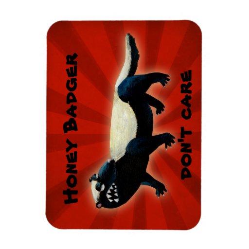 Honey Badger  don't care! Rectangle Magnets