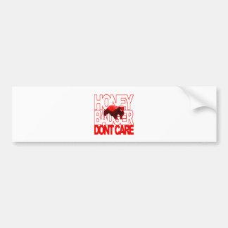 Honey Badger Don't Care Red Car Bumper Sticker