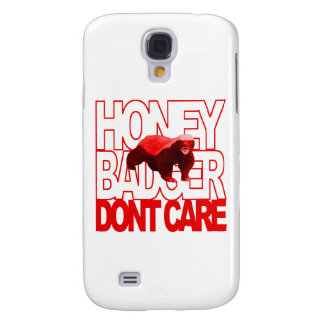 Honey Badger Don't Care Red Galaxy S4 Case