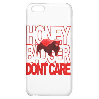 Honey Badger Don't Care Red iPhone 5C Case