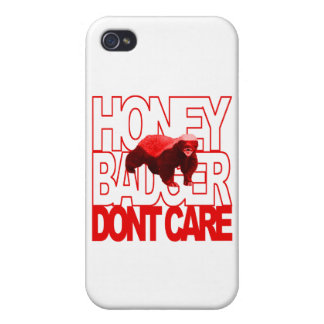 Honey Badger Don't Care Red iPhone 4/4S Cases