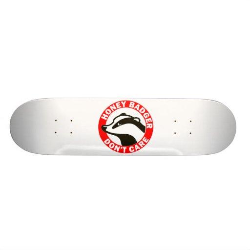 Honey Badger Don't Care Skate Deck