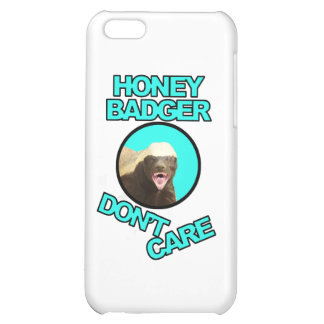 Honey Badger Don't Care Teal Cover For iPhone 5C