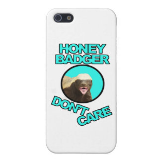 Honey Badger Don't Care Teal iPhone 5 Cases