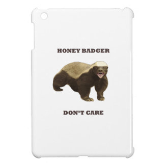 Honey Badger Don't Care. White Pattern Case For The iPad Mini