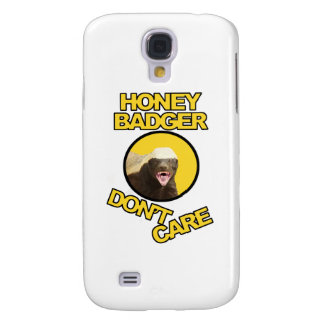 Honey Badger Don't Care Yellow Galaxy S4 Case