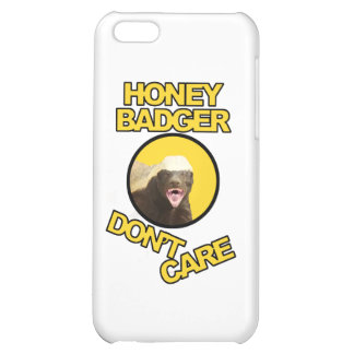 Honey Badger Don't Care Yellow iPhone 5C Covers
