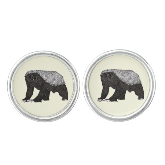 Honey Badger Fearless With Attitude Animal Design Cuff