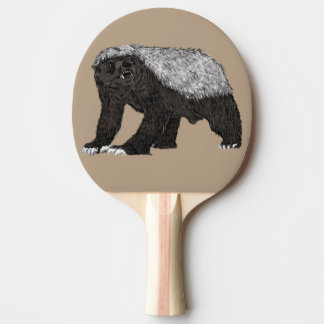 Honey Badger Fearless With Attitude Animal Design Ping Pong Paddle