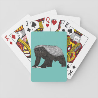 Honey Badger Fearless With Attitude Animal Design Playing Cards