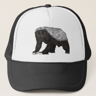 Honey Badger Fearless With Attitude Animal Design Trucker Hat