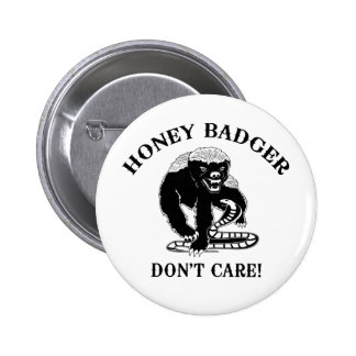 Honey Badger for light colored products Pins