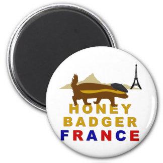 Honey Badger France 6 Cm Round Magnet