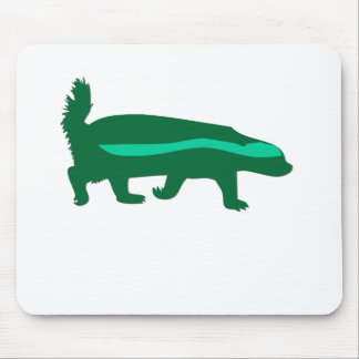 honey badger green mouse pad