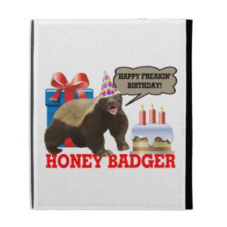 Honey Badger Happy Freakin' Birthday iPad Folio Cover