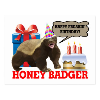 Honey Badger Happy Freakin' Birthday Postcard
