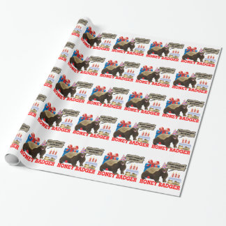 Honey Badger Happy Freakin' Birthday Wrapping Paper