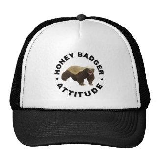 Honey badger has attitude cap