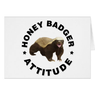 Honey badger has attitude card