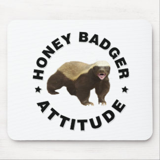 Honey badger has attitude mouse mat