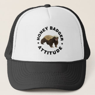 Honey badger has attitude trucker hat