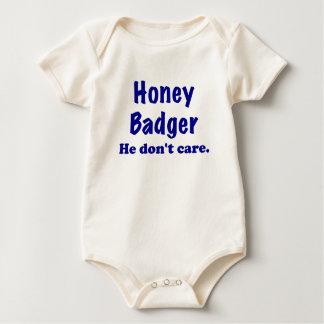 Honey Badger He Dont Care Baby Bodysuit