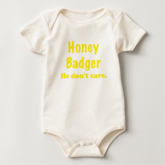 Honey Badger He Dont Care Bodysuits
