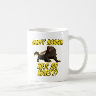 Honey Badger He's So Nasty Basic White Mug