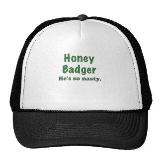 Honey Badger Hes So Nasty Cap