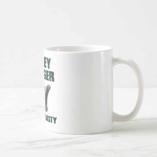 Honey Badger He's So Nasty Classic White Coffee Mug