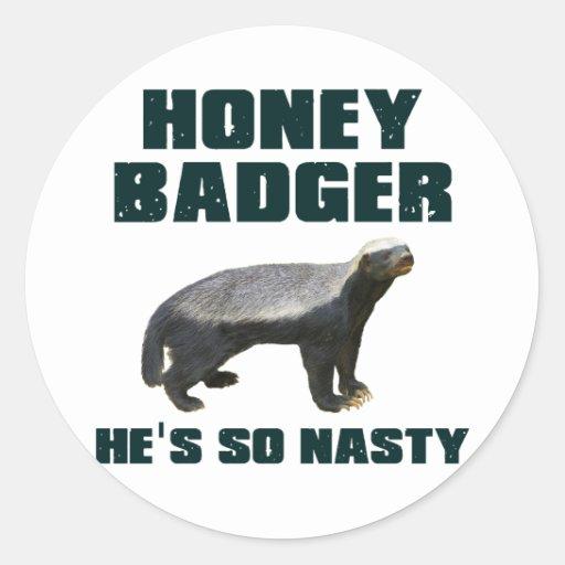 Honey Badger He's So Nasty Sticker