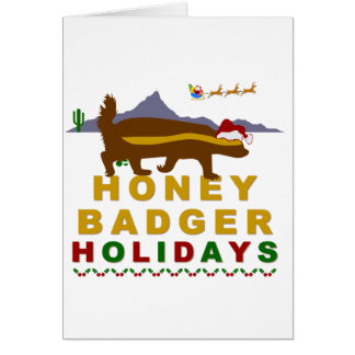 honey badger holidays card