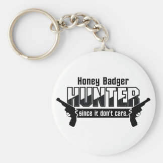 Honey Badger Hunter key chain