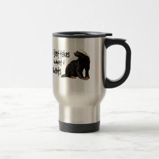Honey Badger - I just takes what I wants Travel Mug