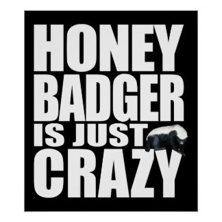 Honey Badger Is Just Crazy Poster