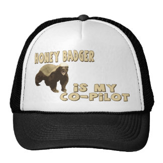 Honey Badger Is My Co-Pilot Cap