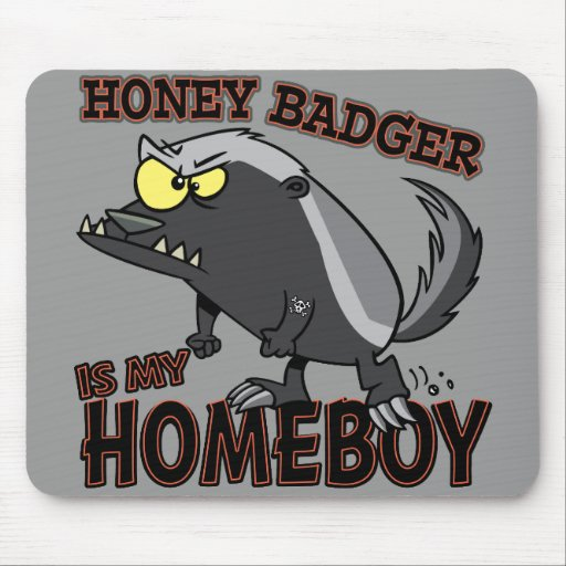 honey badger is my homeboy mouse pads