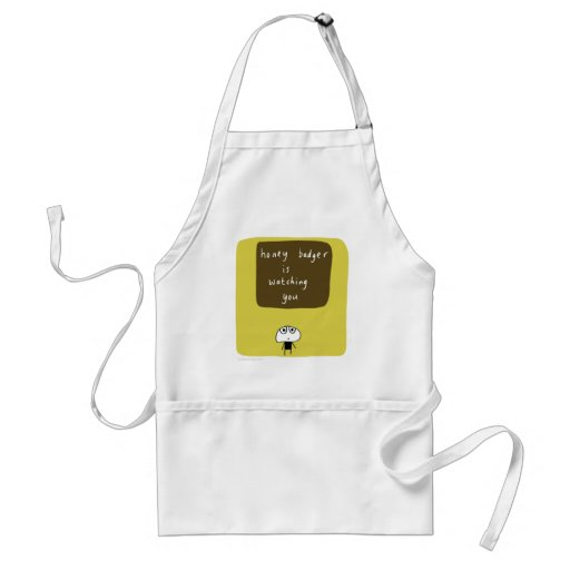 Honey badger is watching you aprons