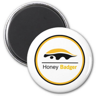 Honey Badger - It Just Don't Care 6 Cm Round Magnet