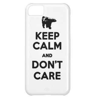 HONEY BADGER keep calm and DON T CARE iPhone 5C Case