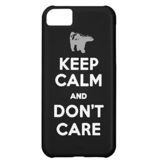 HONEY BADGER keep calm and DON T CARE iPhone 5C Cover