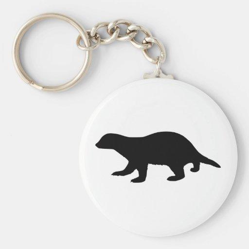 Honey Badger Keychain
